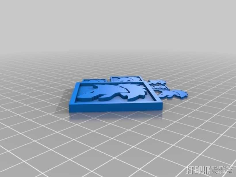 狼头 图标 3D模型  图7
