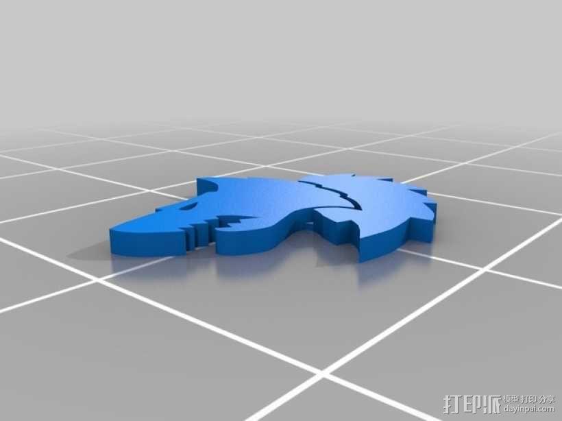 狼头 图标 3D模型  图8