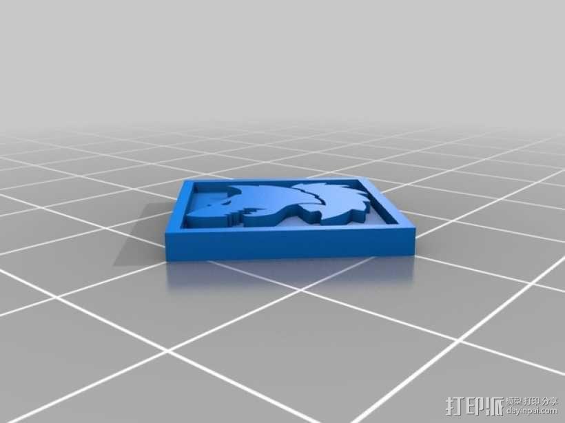 狼头 图标 3D模型  图11