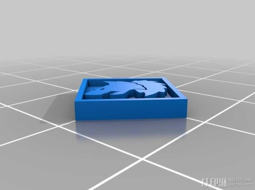 狼头 图标 3D模型  图12