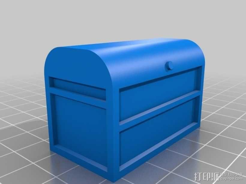 1:10遥控赛车工具箱 3D模型  图3