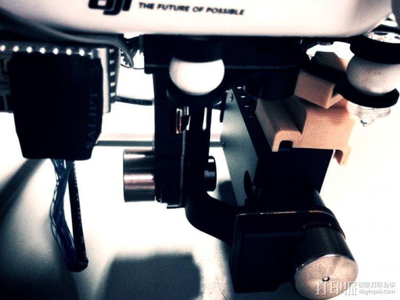 "Zenmuse""禅思云台""三轴飞行器固定夹 3D模型  图4"