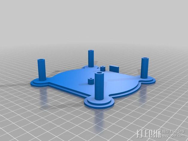 树莓派设备倾斜头 3D模型  图2