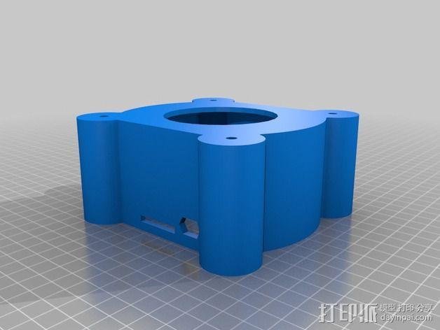 树莓派设备倾斜头 3D模型  图3