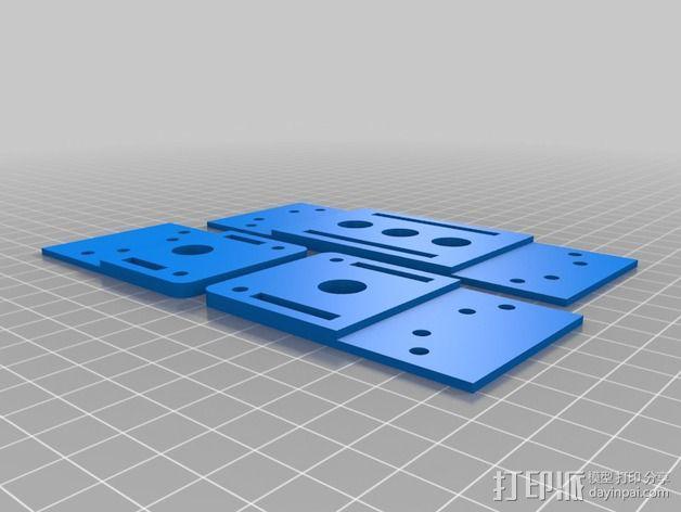 四轴飞行器框架 3D模型  图5