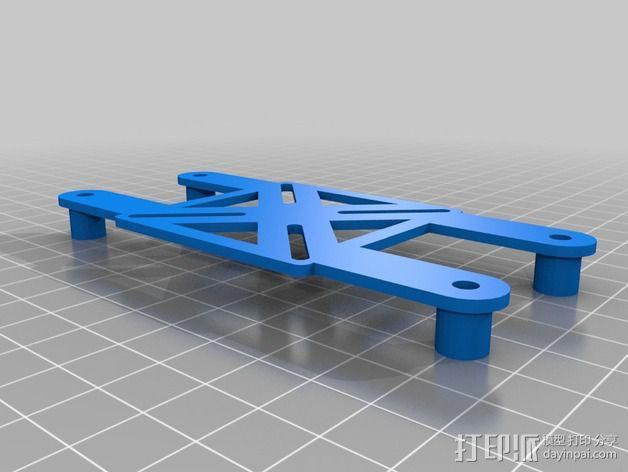 四轴飞行器框架 3D模型  图6