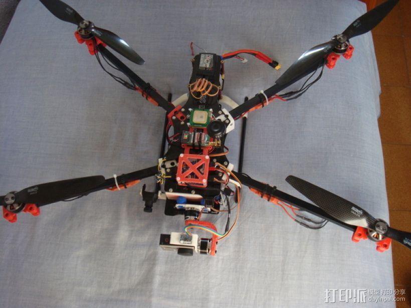 F450 TBS直升飞机延伸装配台架 3D模型  图1