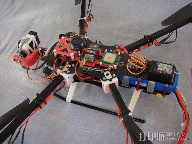 F450 TBS直升飞机延伸装配台架 3D模型  图3