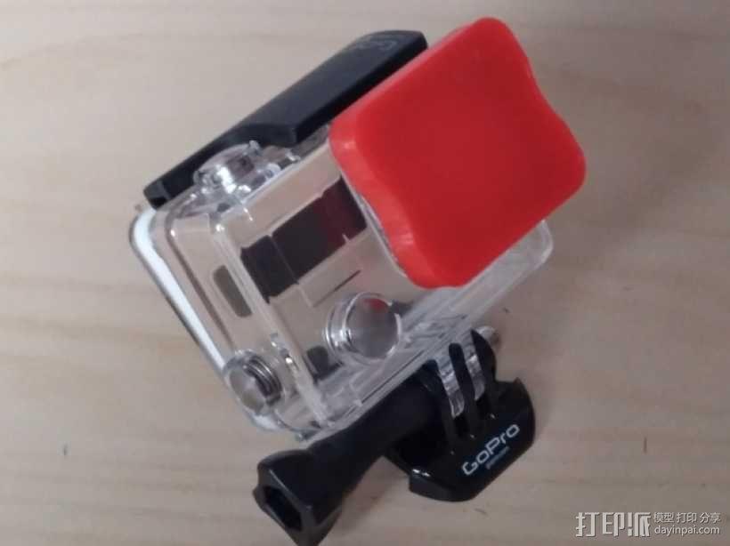 GoPro相机镜头盖 3D模型  图1