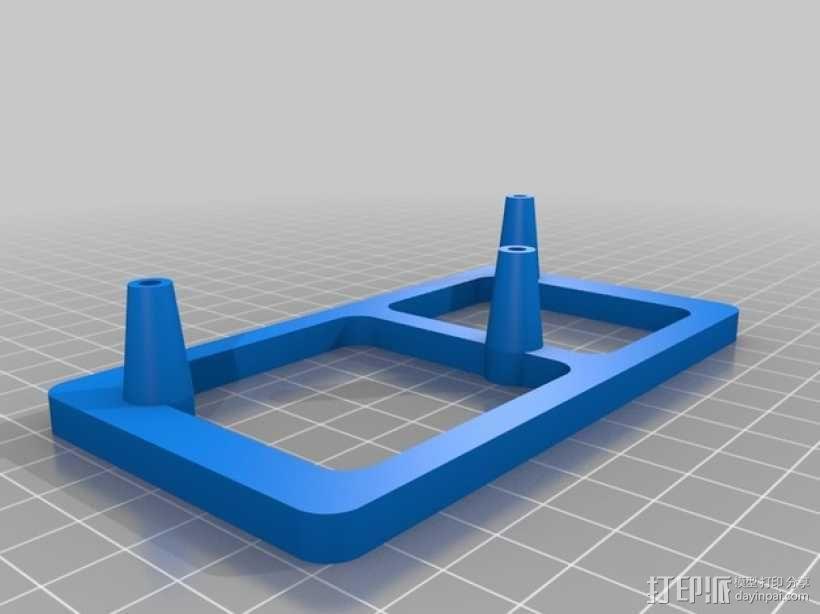 树莓派电路板 保护装置 3D模型  图2