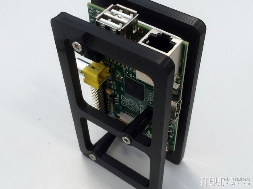 树莓派电路板 保护装置 3D模型  图4