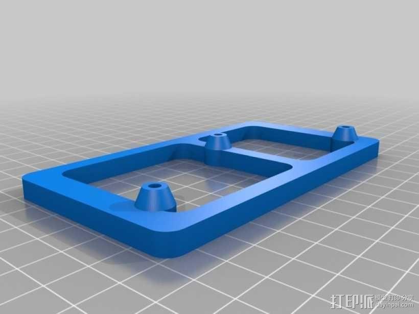 树莓派电路板 保护装置 3D模型  图3
