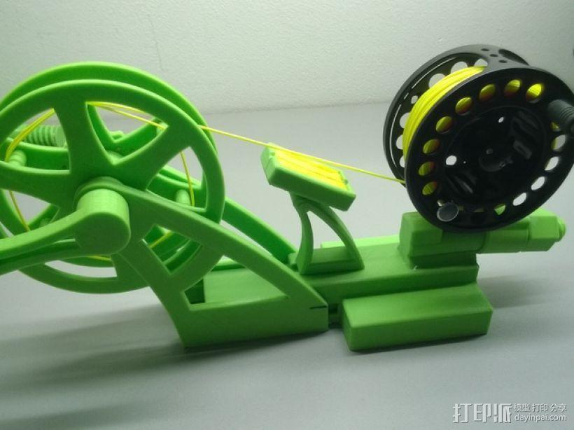 钓鱼线清理和重绕装置 3D模型  图1