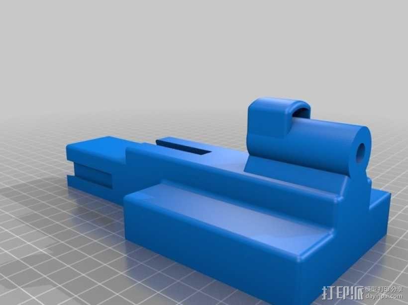 钓鱼线清理和重绕装置 3D模型  图4