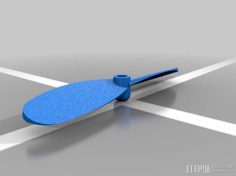 四轴飞行器 桨叶 3D模型  图2