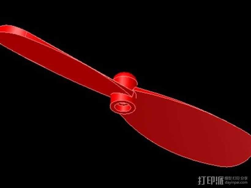 四轴飞行器 桨叶 3D模型  图1