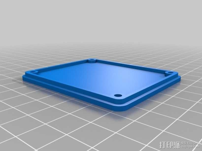 无人机LED环和保护装置 3D模型  图2