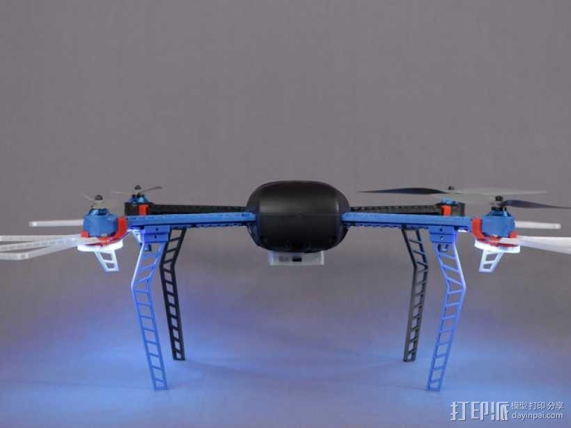 无人机LED环和保护装置 3D模型  图1