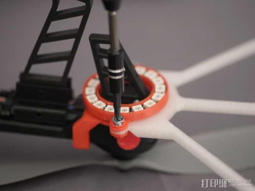 无人机LED环和保护装置 3D模型  图10