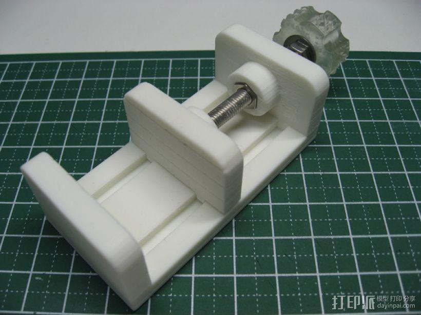 参数型可打印虎钳夹 3D模型  图1