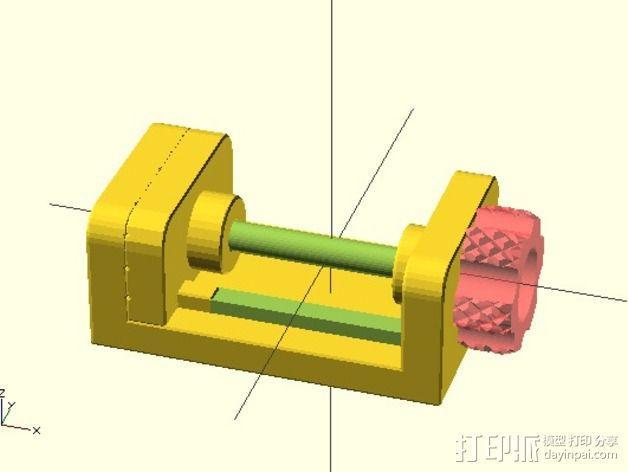 参数型可打印虎钳夹 3D模型  图4