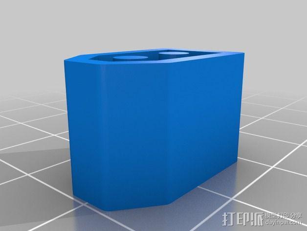 XT60 锂电池插口保护壳 3D模型  图2