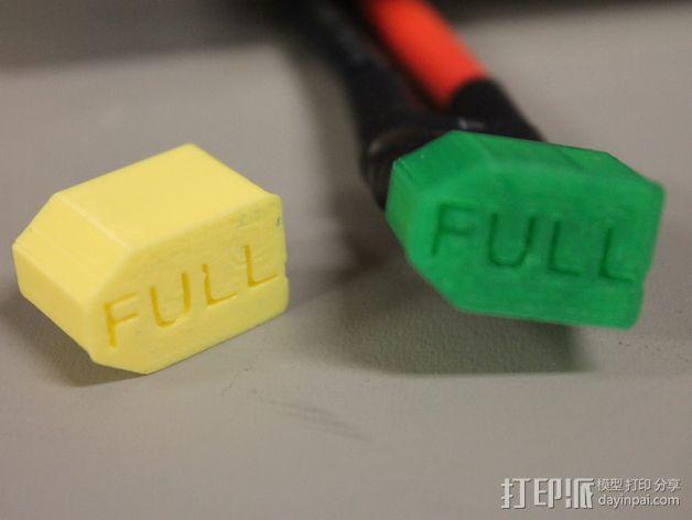XT60 锂电池插口保护壳 3D模型  图3
