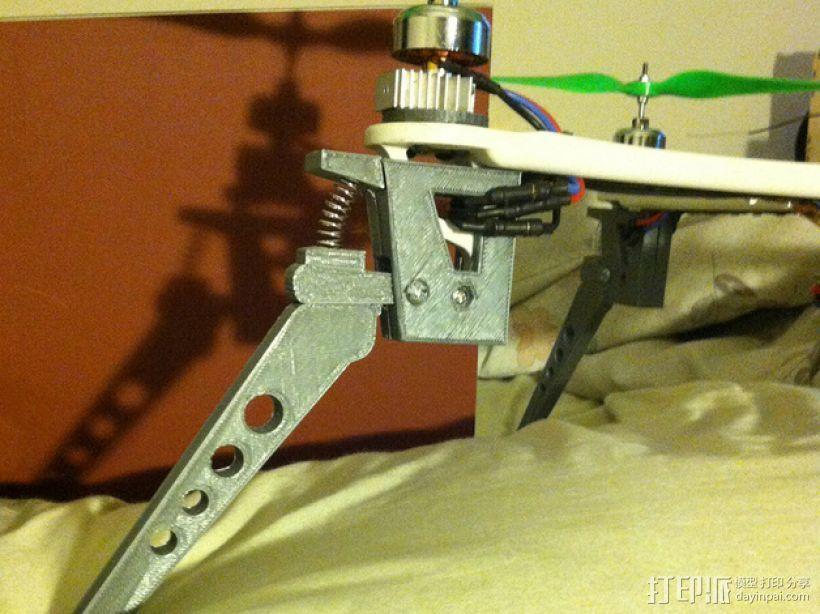 四轴飞行器减震起落架 3D模型  图1