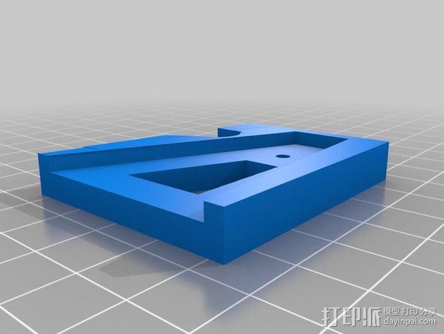 四轴飞行器减震起落架 3D模型  图2