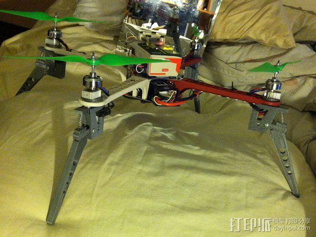 四轴飞行器减震起落架 3D模型  图6