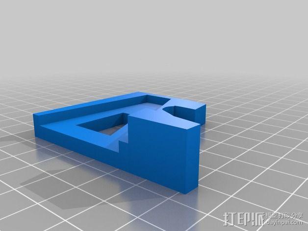 四轴飞行器减震起落架 3D模型  图5