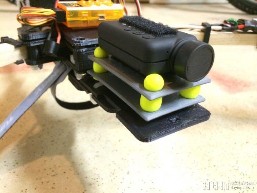 Mobius/GoPro相机 防振底座 3D模型  图1