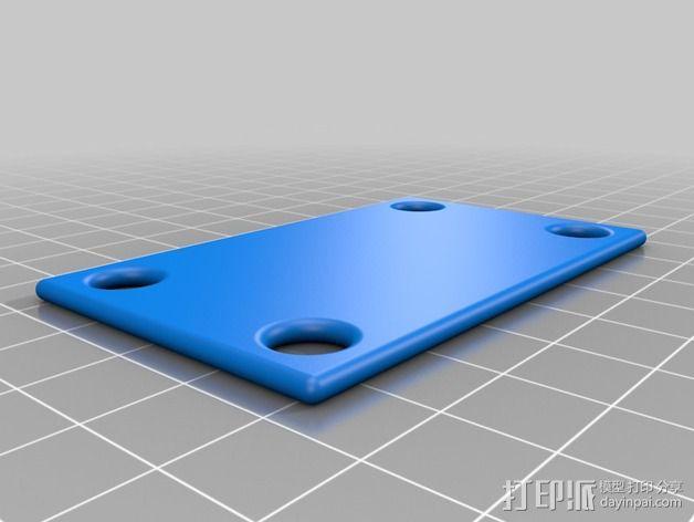 Mobius/GoPro相机 防振底座 3D模型  图2