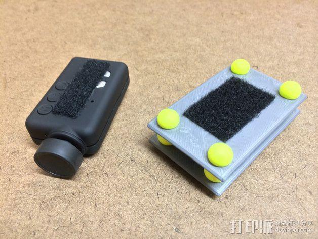 Mobius/GoPro相机 防振底座 3D模型  图3