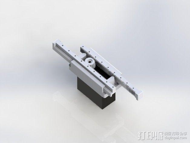线性伺服零部件 3D模型  图1