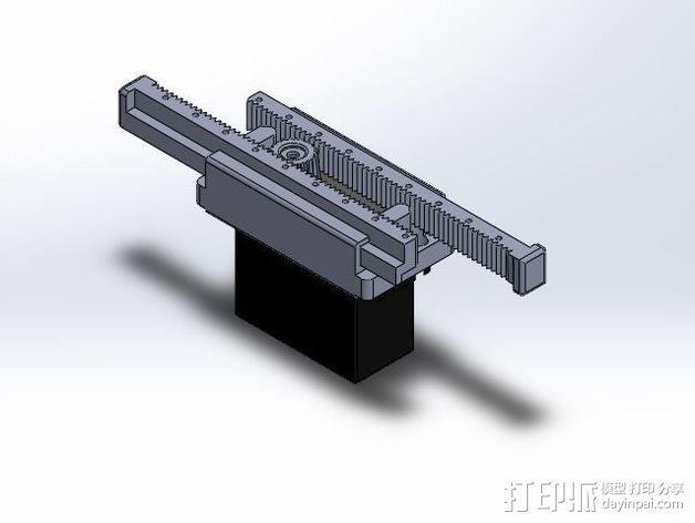 线性伺服零部件 3D模型  图6