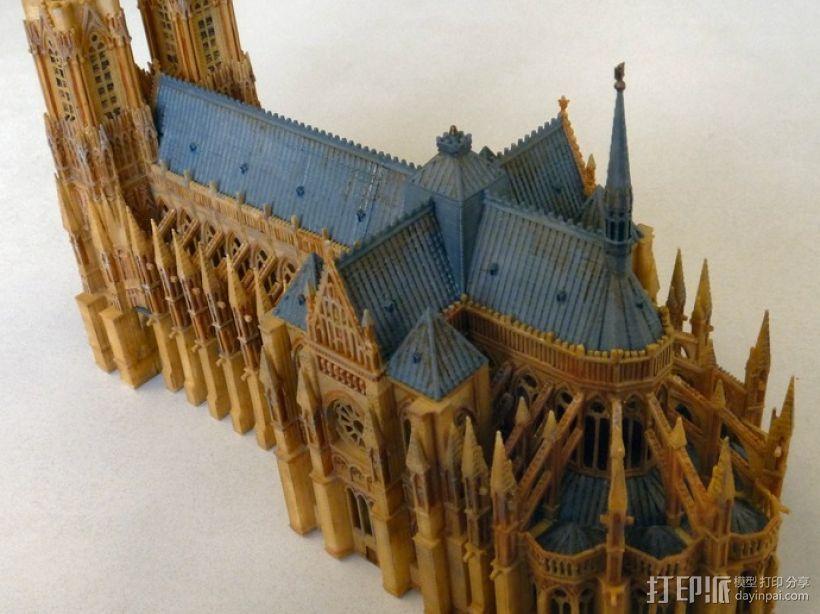 兰斯圣母院教堂 3D模型  图3