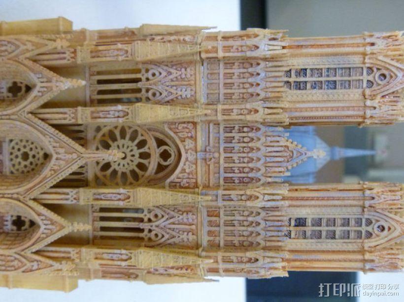 兰斯圣母院教堂 3D模型  图2