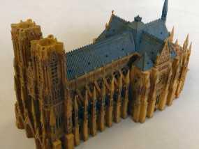 兰斯圣母院教堂 3D模型
