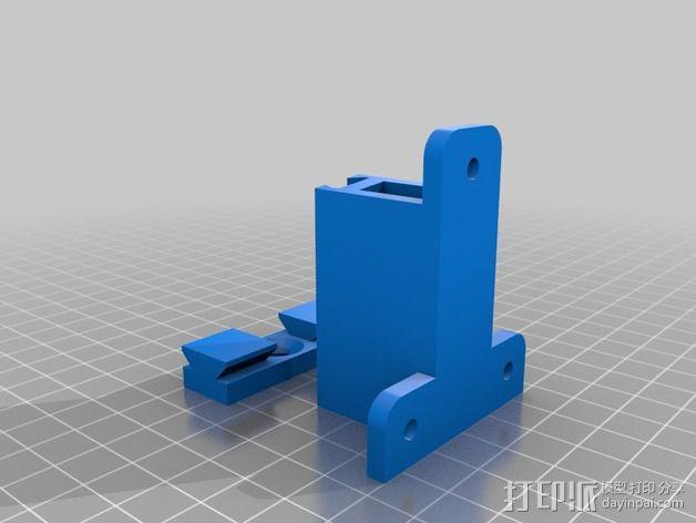 壁挂式扬声器固定夹 3D模型  图3