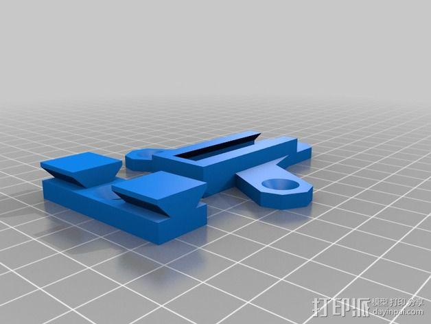 壁挂式扬声器固定夹 3D模型  图2
