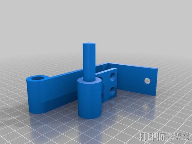 壁挂式扬声器固定夹 3D模型  图4