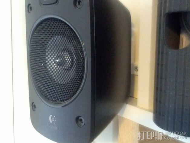 壁挂式扬声器固定夹 3D模型  图8