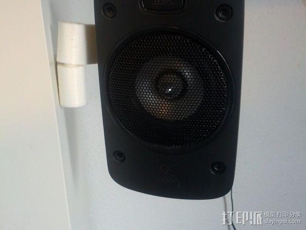 壁挂式扬声器固定夹 3D模型  图11