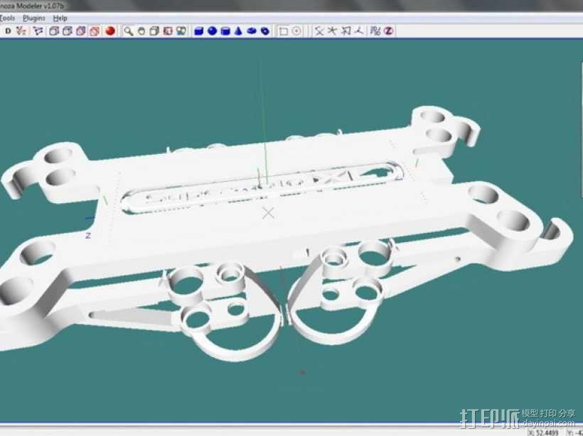 四轴飞行器框架 3D模型  图10