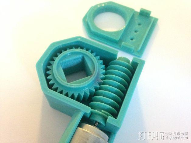 蜗轮驱动电源组 3D模型  图2