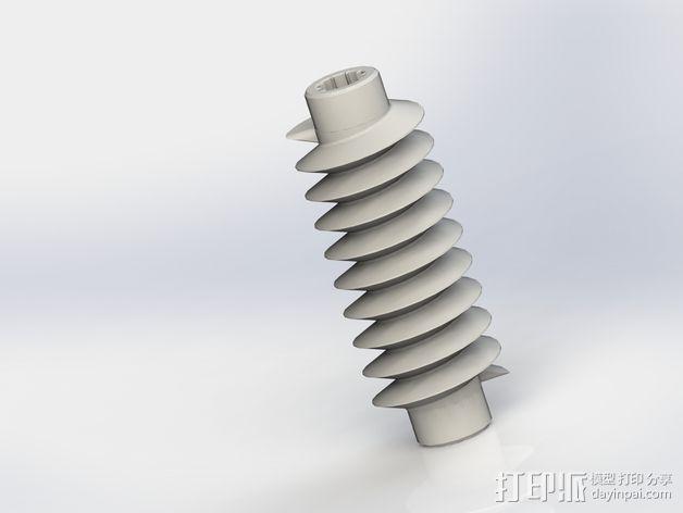 蜗轮驱动电源组 3D模型  图6