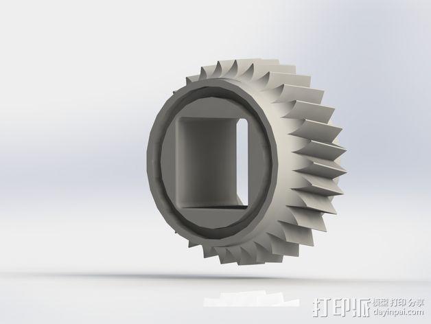 蜗轮驱动电源组 3D模型  图5