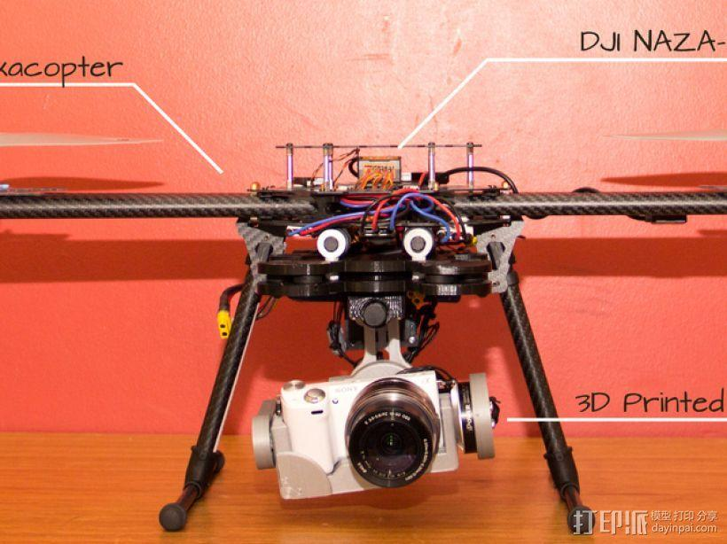 索尼相机常平架 3D模型  图1