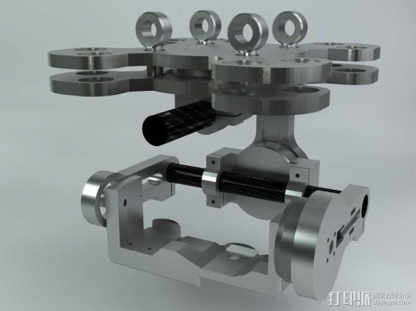 索尼相机常平架 3D模型  图4